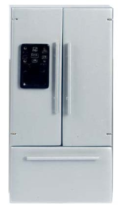 Dollhouse Miniature Refrigerator With Freezer On Bottom front-268658