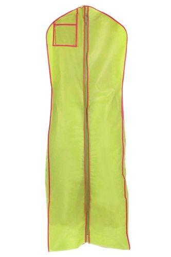 Lime with trim wedding gown travel storage garment bag for Wedding dress travel bag