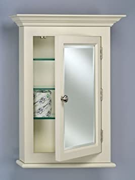 Wilshire 2 Wood Medicine Cabinet in White Finish (Large - Biscuit)