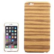 Sandpainting Wood Grain Texture PU Case for iPhone 6(Yellow)