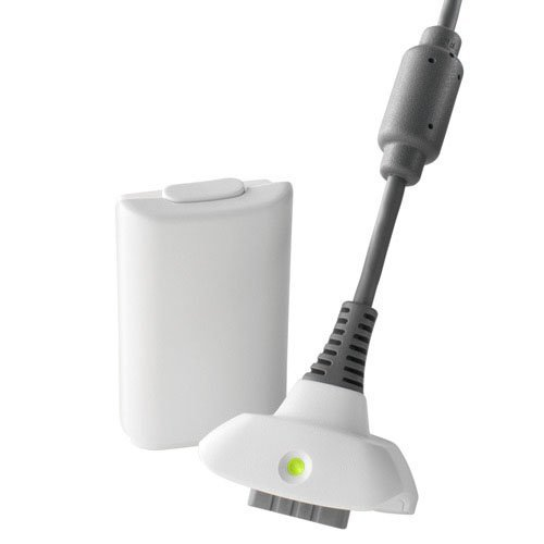 Xbox-360-Play-Charge-Kit-White-Battery-and-Charging-cable-Generic