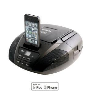 h b dx 1000i lecteur cd et docking pour iphone ipod noir radio cassette cd. Black Bedroom Furniture Sets. Home Design Ideas