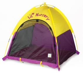 Lil Nursery Tent provides a safe place for your little one to sleep and play.