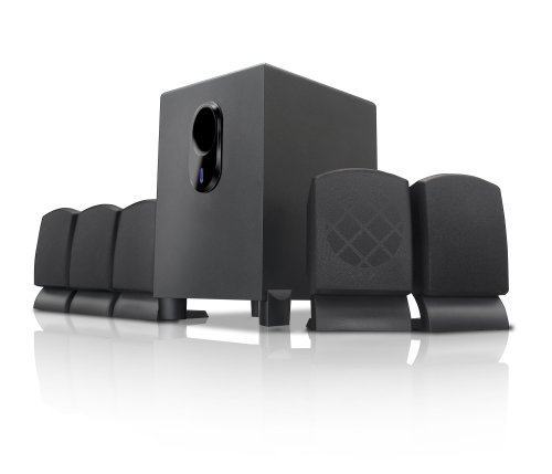 Coby CSP96 300-Watt 5.1-Channel Home Theater Speaker System (Black)
