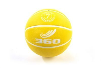 360 Athletics Playground Rubber Basketball, Size 7, Yellow - 1