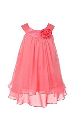 11 Colors - Girl's 2-14 Soft & Flowy Chiffon Pageant Flower Girl Party Dress