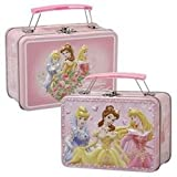 Disney Princess Trio Small Embossed Lunch Box Tin/ Carry-all