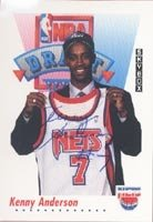 Kenny Anderson New Jersey Nets 1992 Skybox Draft Pick Autographed Hand Signed Trading... by Hall+of+Fame+Memorabilia