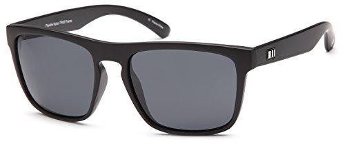 Gamma-Ray-Stealth-Electric-Polarized-UV400-Flat-Black-Wayfarer-Square-Sunglasses-in-Shatterproof-Nylon-Frame