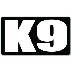 "K9 K-9 unit police guard dog car bumper sticker 5"" x 3"""