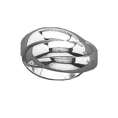 bijoux bagueso bague femme alliance 3 anneaux 12 mm argent massif taille 62. Black Bedroom Furniture Sets. Home Design Ideas