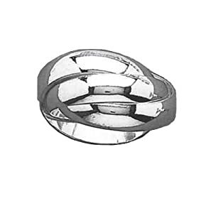 So Chic Jewels - Ladies Sterling Silver 12 mm Wide 3 Piece Russian Wedding Ring