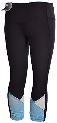 Nike Women's Dri-Fit Legend Low Rise Veneer Training Capris-Black/Blue