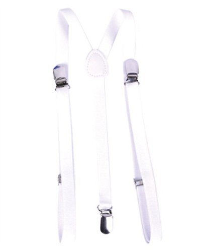 Child's Gangster or Clown Costume White Suspenders