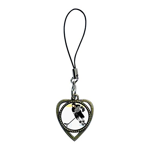 Chicforest Ancient Bronze Retro Style Little Boy Red Arrow Target Photo Heart Shaped Strap Hanging Chain For Phone Cell Phone Charm Dust Plug-Earphone Jack Accessories, Cell Charms, Dust Plug, Ear Jack Universal 3.5Mm Anti Dust Earphone Jack Plug Cap For