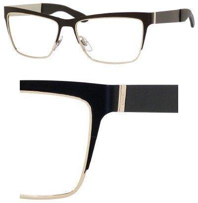 Yves Saint Laurent Eyeglasses Yves Saint Laurent 6365 096C Black Gold