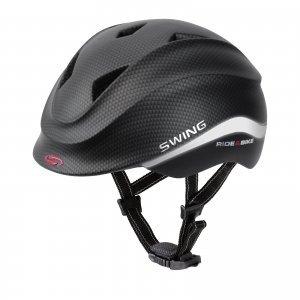 SWING Kinderreithelm K4 Ride&Bike, schwarz matt, 46 - 51 cm
