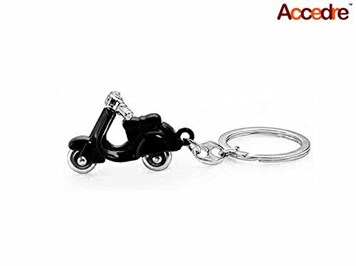 Accedre-Designer-Black-Scooter-Metal-Keychain-For-CarBike