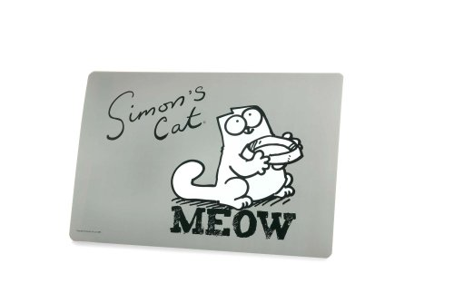 Karlie-Flamingo-44450-Simons-Cat-Napfunterlage-grau-43-cm-x-28-cm