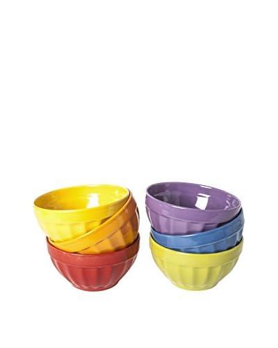 Geniet Thuis Kom Set van 6 Rainbow 550 cl veelkleurige