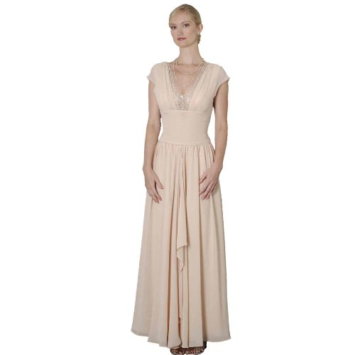 Formal Evening Dress -Mother of Bride & Groom, Wedding, Party, MOB Gown by Sean Collection (7343) CHAMPAGNE 12