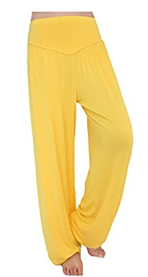 Anatoky Womens New Modal Cotton Soft Yoga Sports Dance Harem Pants