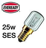 5x Eveready 25W Pygmy Bulb Appliance Lamp SES(E14) -