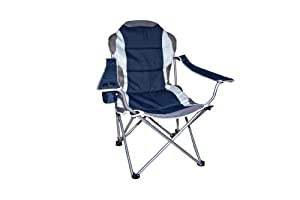 Quest Superlite Admiral Folding Chair Navy For Camping