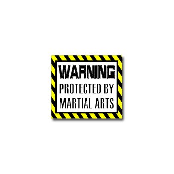 Warning Protected by MARTIAL ARTS - Window Bumper Sticker