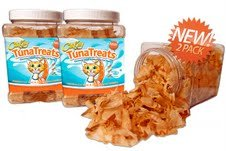 CitiKitty TunaTreats - Gourmet Dried Bonito Flake Cat Treats - 2pk of 6oz Easy Grip Containers