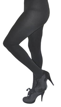 Royal Cult Womens Skinny Fit Fleece Tights (Small / Medium, Black)