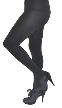 Royal Cult Women's Skinny Fit Fleece Tights (X-Large, Black)