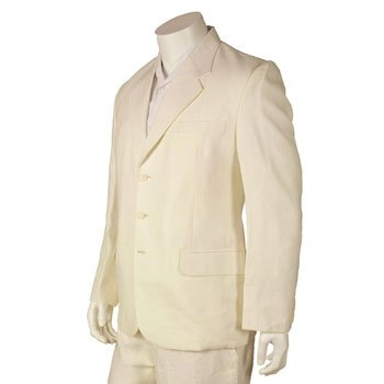 Final sale 100% linen jacket - 34 pure white