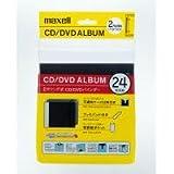 日立マクセル 2穴リング式 CD/DVDバインダー ブラック BND-24BK