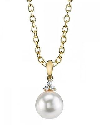 14K Gold Japanese Akoya Pearl & Diamond Alyssa Pendant