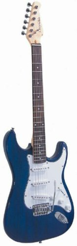 J Reynolds Jr6Tbl 6-String Electric Guitar, Transparent Blue