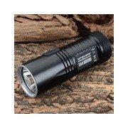 NITECORE EA41 960lm 8-Mode Cool White Light LED Portable Search Flashlight - Black (4 x AA) Black