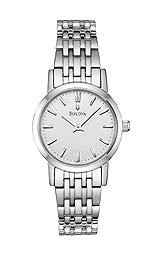 Bulova Bracelet Collection Polished Steel Silver Dial Women's watch #96L131