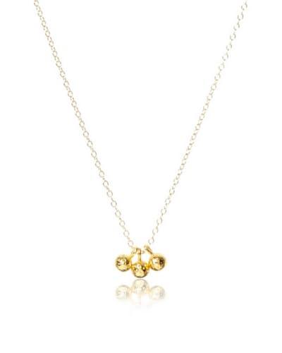 gorjana Golden Carmel Three Drop Necklace