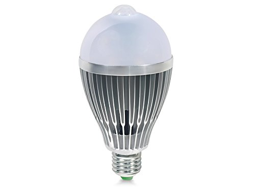 Led4U LED Birne Glühbirne Lampe LEDs Beleuchtung mit Bewegungsmelder Bewegungsmelder PIR Sensor Licht Leuchte E27 12W 1100Lm warmweiß kaltweiß (Warmweiß)