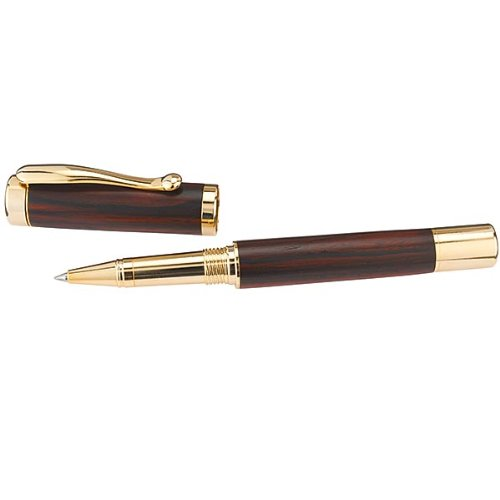 Woodturning Project Kit for Continental Rollerball Pen, Gold