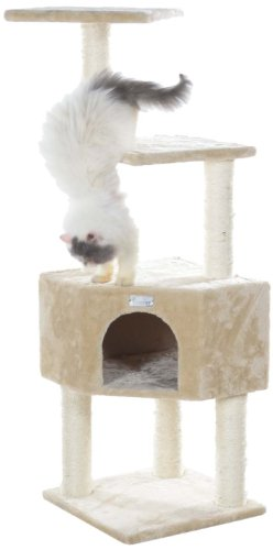 GleePet GP78480321 Cat Tree, 48-Inch, Beige
