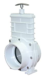 "Valterra 6401 PVC Gate Valve, White, 4"" Slip by Valterra Products"