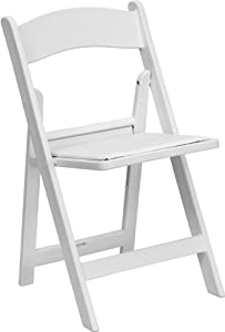 HERCULES Series 1000 lb. Capacity Resin Folding Chair White/Slatted Seat