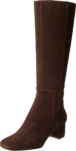 Nine West Women'S Facts Riding Boot,Dark Brown,7 M Us