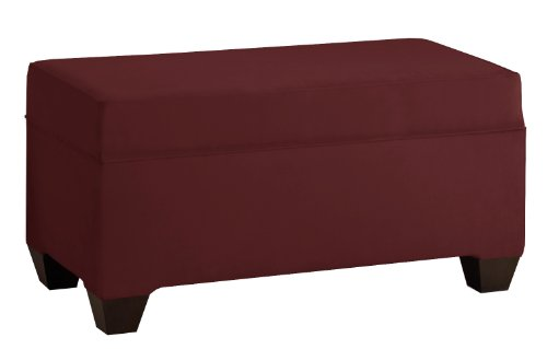 Skyline Furniture Velvet Upholstered Storage Bench, Berry (Skyline Outdoor Furniture compare prices)