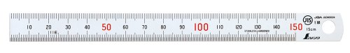 シンワ測定 直尺 シルバー 13005 15cm