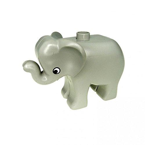 1 x Lego Duplo Tier Baby Elefant klein hell grau