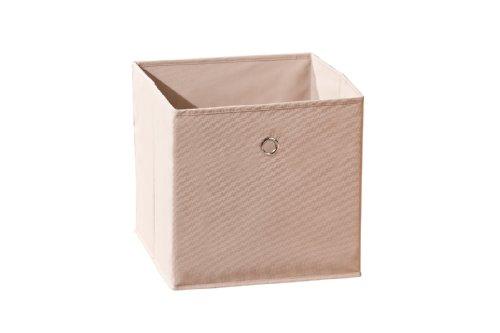 99200210 Regalbox Regalkorb Aufbewahrungsbox Schrankbox Box Würfel faltbar Regal beige