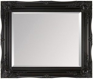 Large Black Shabby Chic Framed BEVELLED Mirror 42inch x 30inch (107cm x 76cm) Stunning Quality - Ready to Hang - ITV Show Supplier